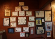 Wall of LoCoco's Awards
